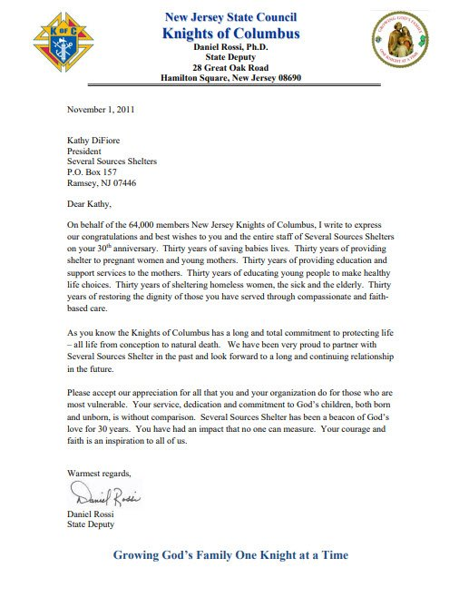 knights of columbus letter